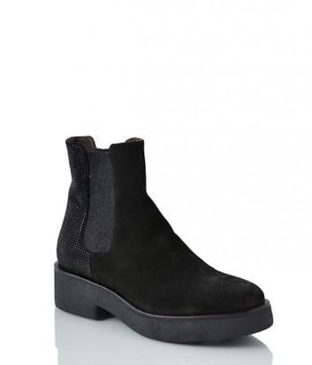 Замшевые ботинки NOW 2362 черные