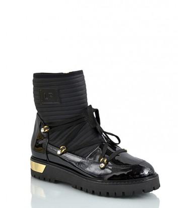 Ботинки Loretta Pettinari из лаковой кожи черные