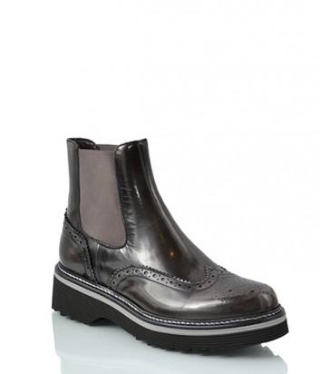 Кожаные ботинки челси Laura Bellariva 7026 серые