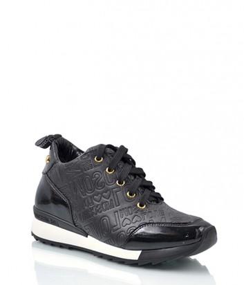 Кожаные кроссовки Love Moschino 1527 черные