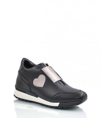 Кожаные кроссовки Love Moschino 1524 черные