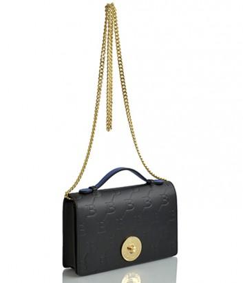 Кожаная сумка на цепочке Sara Burglar 1525 черная