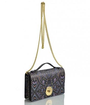 Кожаная сумка на цепочке Sara Burglar 1525 цветная