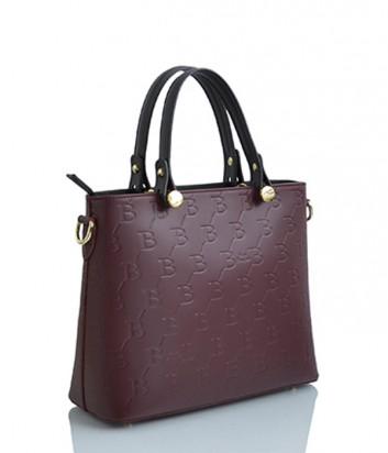 Кожаная сумка Sara Burglar 1521 бордовая
