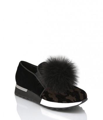 Бархатные кроссовки Jeannot 71165 с камуфляжным принтом