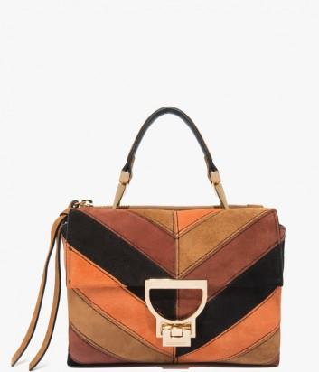 Замшевая сумка Coccinelle Arlettis коричнево-рыжая