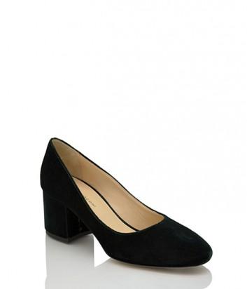 Бархатные туфли Fabio Rusconi Minu на широком каблуке черные