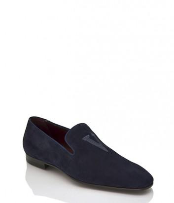 Замшевые туфли Valentino 17110 синие