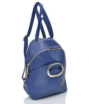 Кожаный рюкзак Di Gregorio 1086 синий
