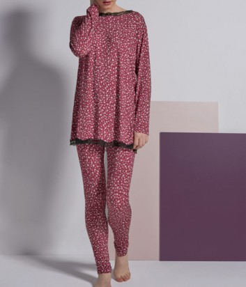 Пижама Rebecca 3826 бордовая