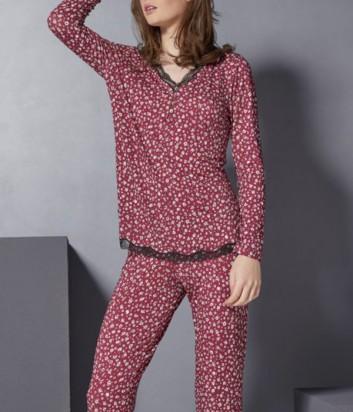 Пижама Rebecca 3827 бордовая