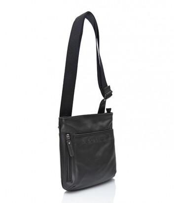 Кожаная сумка через плечо Di Gregorio 600 черная