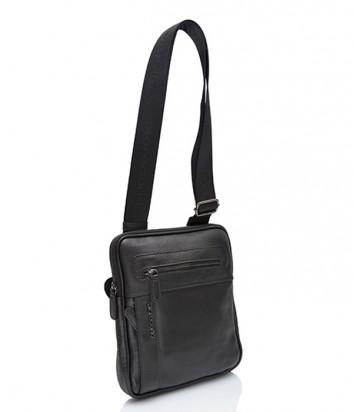 Кожаная сумка через плечо Di Gregorio 8592 черная