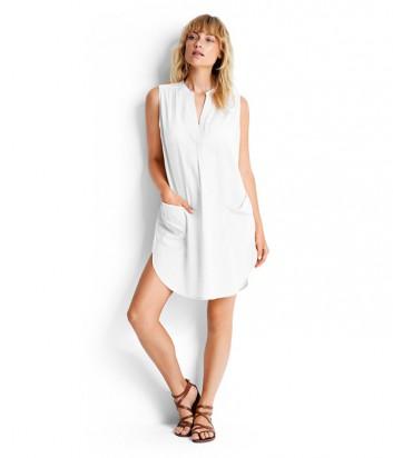 Хлопковая туника-платье Seafolly 53127-CU белая