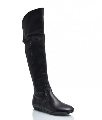 Кожаные ботфорты Lazzari 4990 черные