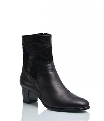 Кожаные ботинки Sgariglia Luigi 813 на меху черные