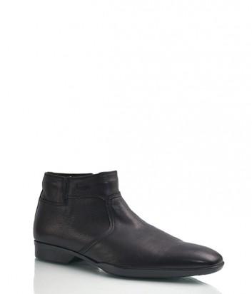 Кожаные ботинки Florian 533 с мехом черные