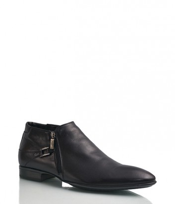 Кожаные ботинки Mirko Ciccioli 3714 с мехом черные