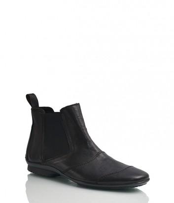 Мужские кожаные ботинки Lazzeri 7302 черные