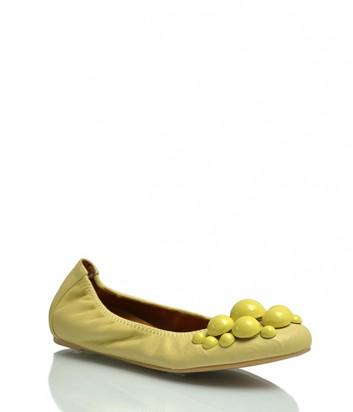 Кожаные балетки Ras 974 желтые