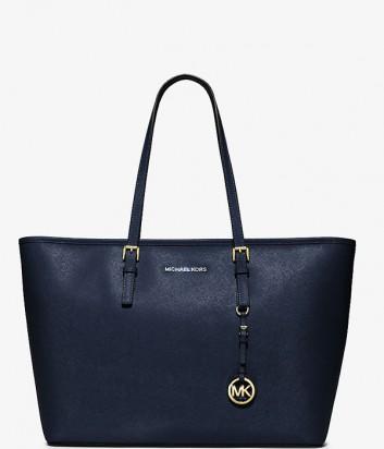 Большая сумка-шоппер Michael Kors Jet Set Travel синяя