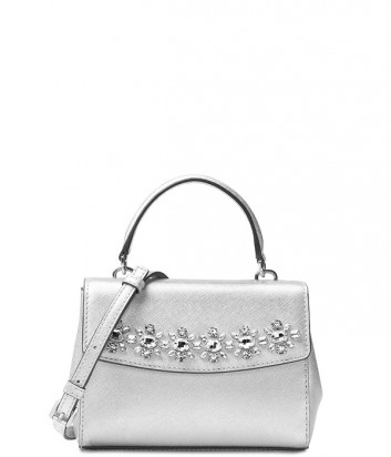 Сумка Michael Kors Ava Jewel Extra-Small серебряная