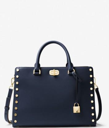 Кожаная сумка Michael Kors Sylvie синяя