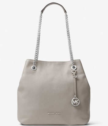 Кожаная сумка Michael Kors Jet Set Travel Chain серая