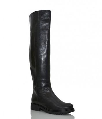 Кожаные сапоги-ботфорты Loriblu 13101 черные