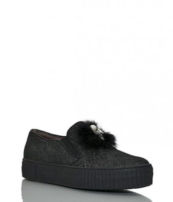 Кожаные ботинки Marzetti 75051 с мехом черные