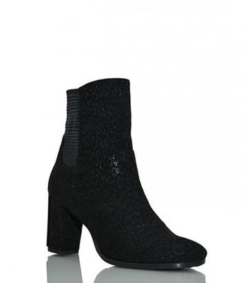 Замшевые ботинки Conni 5338 с мехом черные