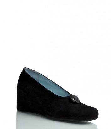 Замшевые туфли Thierry Rabotin 7367 на танкетке черные