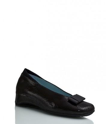 Замшевые туфли Thierry Rabotin 7646 с лазерной обработкой черные