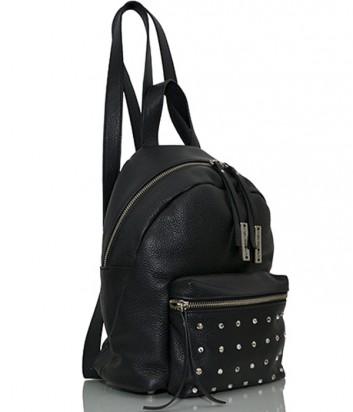 Кожаный рюкзак Sara Burglar 2649 с заклепками черный