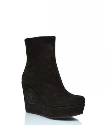 Замшевые ботинки Kelton 960 на меху черные
