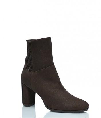 Замшевые ботинки Conni 5338 с мехом коричневые