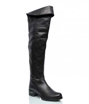 Кожаные ботфорты Loriblu 016 черные