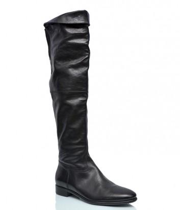 Кожаные ботфорты Laura Bellariva 2114 черные