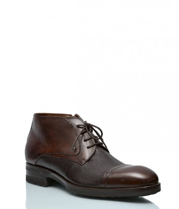 Кожаные ботинки Mario Bruni 493 коричневые