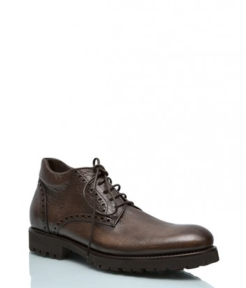Кожаные ботинки Mario Bruni 668 коричневые