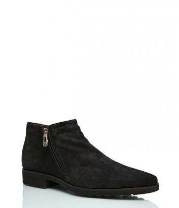 Замшевые ботинки Roberto Rossi 914 на меху черные