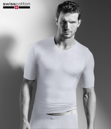 Футболка ISA bodywear 314118 с круглым вырезом белая