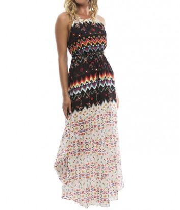 Длинное пляжное платье Despi 5325 с ярким принтом
