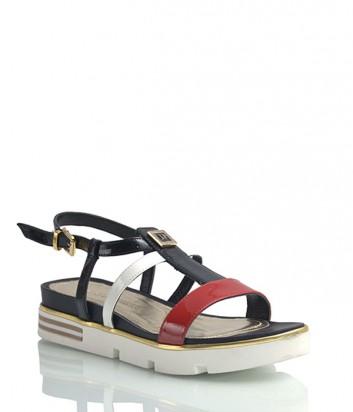 Лаковые сандалии Loretta Pettinari 5339 красно-черные