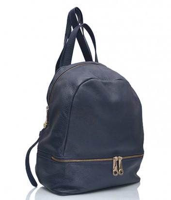 Кожаный рюкзак Di Gregorio 1049 темно-синий