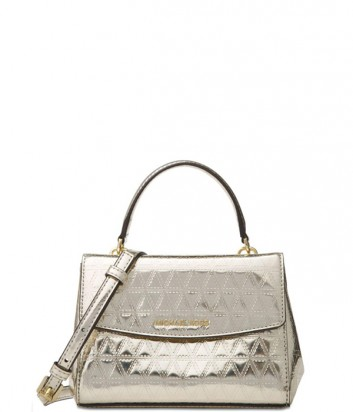 Металлизированная сумка Michael Kors Ava XS цвета шампань