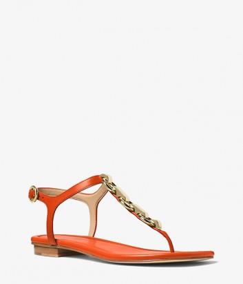 Кожаные сандалии Michael Kors Mahari оранжевые
