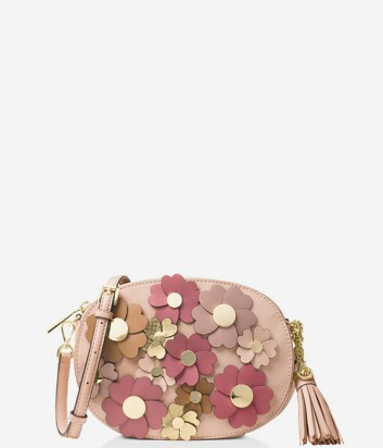Сумочка Michael Kors Ginny Floral с цветочной аппликацией розовая
