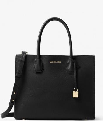 Большая сумка Michael Kors Mercer из зернистой кожи черная