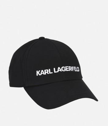 Бейсболка Karl Lagerfeld с логотипом черная